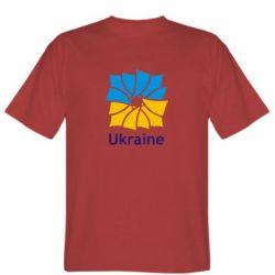 Мужская футболка Ukraine квадратний прапор - FatLine