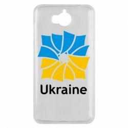 Чехол для Huawei Y5 2017 Ukraine квадратний прапор - FatLine