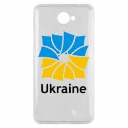 Чехол для Huawei Y7 2017 Ukraine квадратний прапор - FatLine