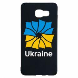 Чехол для Samsung A5 2016 Ukraine квадратний прапор - FatLine