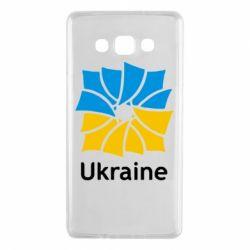 Чехол для Samsung A7 2015 Ukraine квадратний прапор - FatLine