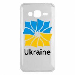 Чехол для Samsung J3 2016 Ukraine квадратний прапор