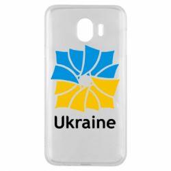 Чехол для Samsung J4 Ukraine квадратний прапор