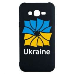Чехол для Samsung J7 2015 Ukraine квадратний прапор