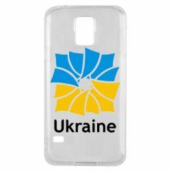 Чехол для Samsung S5 Ukraine квадратний прапор