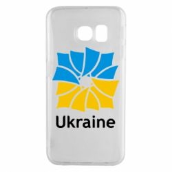 Чехол для Samsung S6 EDGE Ukraine квадратний прапор