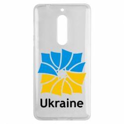 Чехол для Nokia 5 Ukraine квадратний прапор - FatLine