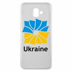 Чехол для Samsung J6 Plus 2018 Ukraine квадратний прапор - FatLine