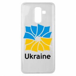 Чехол для Samsung J8 2018 Ukraine квадратний прапор