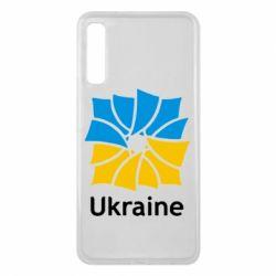 Чехол для Samsung A7 2018 Ukraine квадратний прапор - FatLine