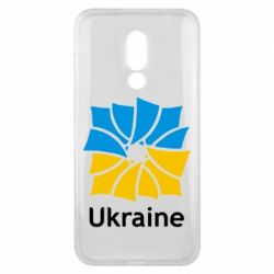 Чехол для Meizu 16x Ukraine квадратний прапор - FatLine