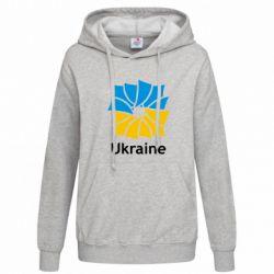 Женская толстовка Ukraine квадратний прапор - FatLine