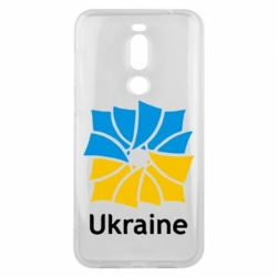 Чехол для Meizu X8 Ukraine квадратний прапор - FatLine