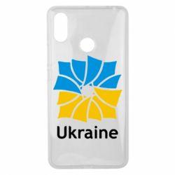 Чехол для Xiaomi Mi Max 3 Ukraine квадратний прапор - FatLine