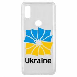 Чехол для Xiaomi Mi Mix 3 Ukraine квадратний прапор - FatLine