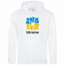 Мужская толстовка Ukraine квадратний прапор