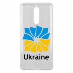 Чехол для Nokia 8 Ukraine квадратний прапор - FatLine