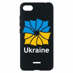 Чехол для Xiaomi Redmi 6A Ukraine квадратний прапор - FatLine