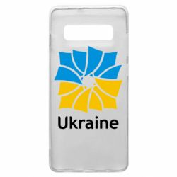 Чехол для Samsung S10+ Ukraine квадратний прапор