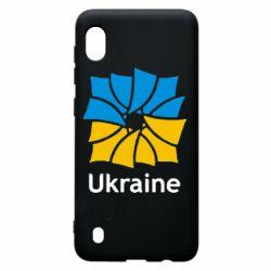 Чехол для Samsung A10 Ukraine квадратний прапор