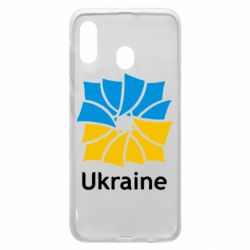Чехол для Samsung A30 Ukraine квадратний прапор