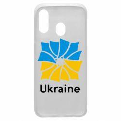 Чехол для Samsung A40 Ukraine квадратний прапор