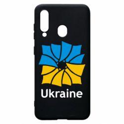 Чехол для Samsung A60 Ukraine квадратний прапор