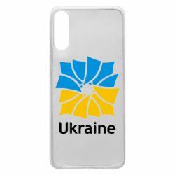 Чехол для Samsung A70 Ukraine квадратний прапор