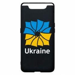 Чехол для Samsung A80 Ukraine квадратний прапор