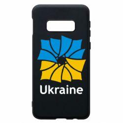 Чохол для Samsung S10e Ukraine квадратний прапор