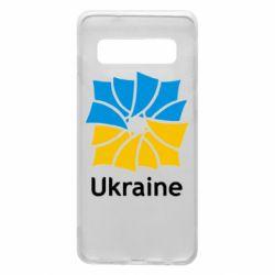 Чохол для Samsung S10 Ukraine квадратний прапор