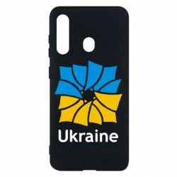 Чехол для Samsung M40 Ukraine квадратний прапор