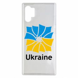 Чехол для Samsung Note 10 Plus Ukraine квадратний прапор