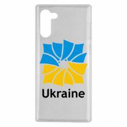 Чехол для Samsung Note 10 Ukraine квадратний прапор