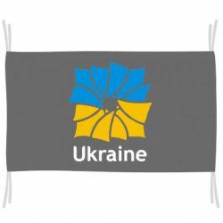 Флаг Ukraine квадратний прапор