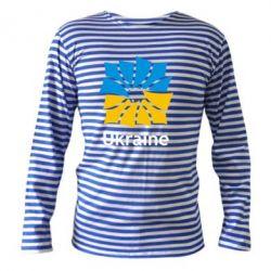 Тельняшка с длинным рукавом Ukraine квадратний прапор - FatLine