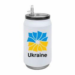 Термобанка 350ml Ukraine квадратний прапор