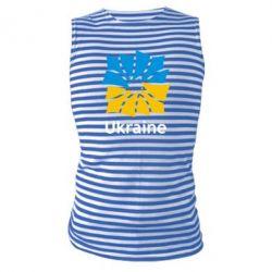 Майка-тельняшка Ukraine квадратний прапор - FatLine