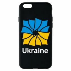 Чехол для iPhone 6/6S Ukraine квадратний прапор - FatLine