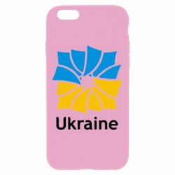 Чехол для iPhone 6 Plus/6S Plus Ukraine квадратний прапор - FatLine