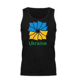 Мужская майка Ukraine квадратний прапор - FatLine