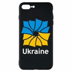 Чехол для iPhone 7 Plus Ukraine квадратний прапор - FatLine