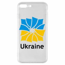 Чехол для iPhone 8 Plus Ukraine квадратний прапор - FatLine