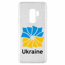 Чехол для Samsung S9+ Ukraine квадратний прапор