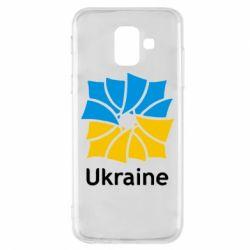 Чехол для Samsung A6 2018 Ukraine квадратний прапор - FatLine