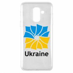 Чехол для Samsung A6+ 2018 Ukraine квадратний прапор