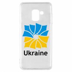 Чехол для Samsung A8 2018 Ukraine квадратний прапор - FatLine