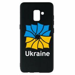 Чехол для Samsung A8+ 2018 Ukraine квадратний прапор - FatLine