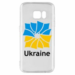 Чехол для Samsung S7 Ukraine квадратний прапор