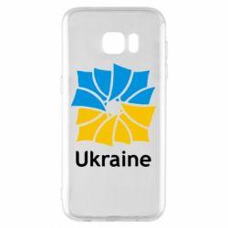 Чехол для Samsung S7 EDGE Ukraine квадратний прапор